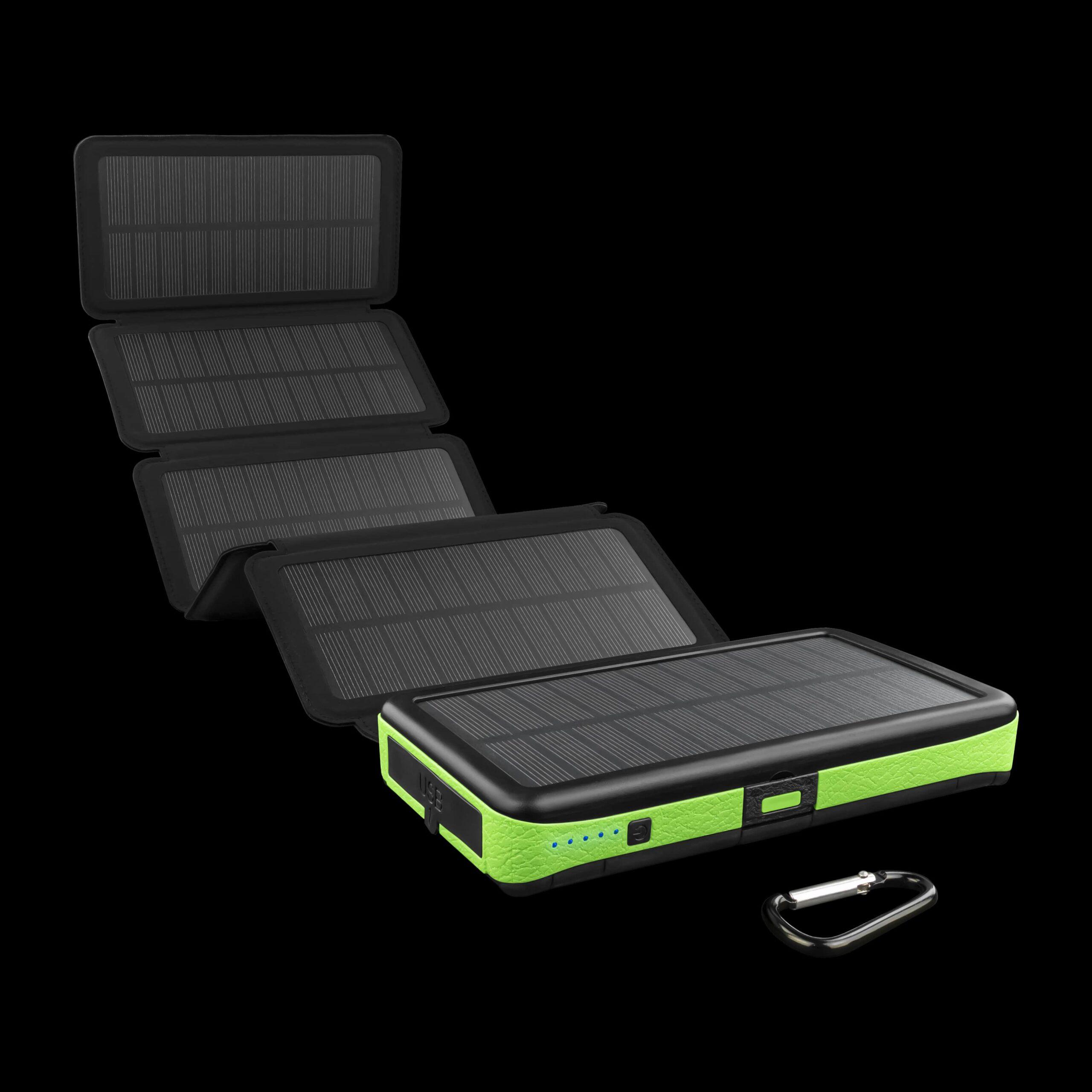 """Солнечное портативное зарядное устройство KILNEX POWER BANK 16000 """"LEXX"""" + беспроводная зарядка."""
